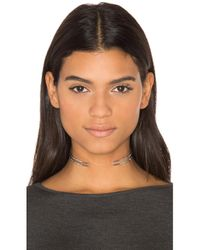 Luv Aj | Metallic Double Pave Spike Collar Necklace | Lyst