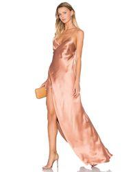 Michelle Mason Multicolor Strappy Wrap Gown