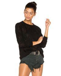 Michael Lauren Black Donnie Vintage Pullover
