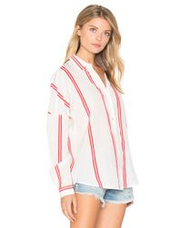 Maison Scotch Red Loose Fitted Shirt