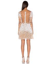 Patricia Bonaldi White Floral Embellished Long-Sleeved Mini Dress