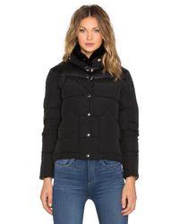 Penfield | Black Rockwool Leather Yoke Down Jacket | Lyst