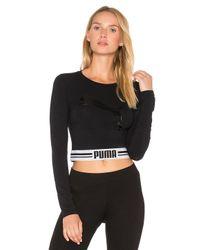 PUMA Black Fly Cat Crop Top