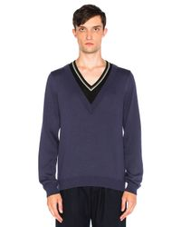 Fred Perry | Multicolor Double Layer V Neck Sweater for Men | Lyst