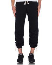 Steven Alan | Black Core Sweatpants for Men | Lyst