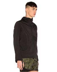 Satisfy Black Packable Zip Front Windbreaker for men