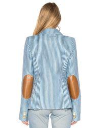 Smythe | Blue Patch Pocket Duchess Blazer | Lyst