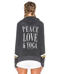 Spiritual Gangster Multicolor Peace Love & Yoga Savasana Beach Hoodie