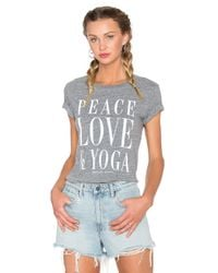 Spiritual Gangster Gray Peace Love & Yoga Vintage Gym Jersey T-Shirt