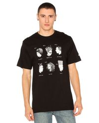 Stussy | Black Cuts Tee for Men | Lyst