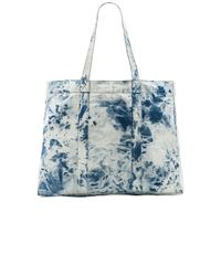 Stussy Blue Acid Wash Beach Tote Bag