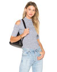 SUNO | Blue Short Sleeve Melange Top | Lyst