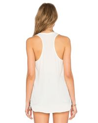 Three Eighty Two White Remy Lace Front Tank
