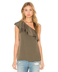 Theory Multicolor Damarill One Shoulder Tank