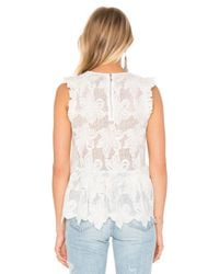 Twelfth Street Cynthia Vincent - Natural Ruffle Shell Top - Lyst