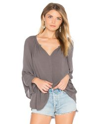 Velvet By Graham & Spencer | Gray Rooney Bell Sleeve Top | Lyst