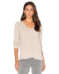 VINCE | Gray Vee Pullover | Lyst
