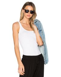 VINCE | White The Favorite Tank | Lyst
