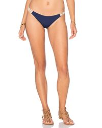 Water Glamour Blue Elizabeth Halter Bikini Top