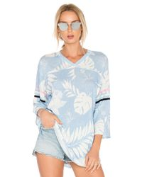 Wildfox Blue Vacay All Day Top