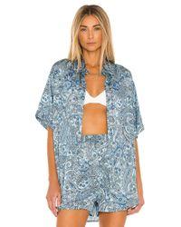 Frankie's Bikinis Fifi トップ In Blue. Size L.