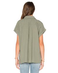 Rails Green Brittany Button Up