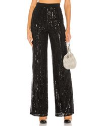 Lovers + Friends Black Nina Sequin Pants