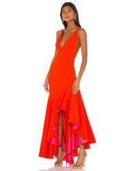 Solace London Edana ガウン In Orange. Size Us 8/ Uk 12. Red