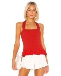 Parker Red Veda Knit Top
