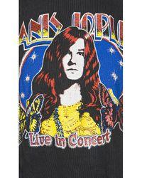 MadeWorn Black Janis Joplin Live In Concert Tee