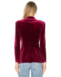 Norma Kamali Red Single Breasted Blazer