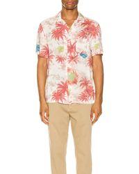 メンズ AllSaints Kanaloa Short Sleeve Shirt ショートスリーブシャツ Pink