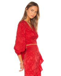 Song of Style Red Dallas Top