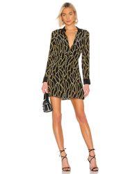L'Agence Black Estelle Mini Shirt Dress