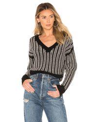 NAADAM Black Kara V Neck Sweater