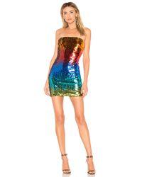 h:ours Blue Lyle Mini Dress