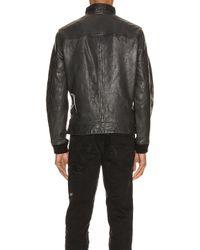 メンズ AllSaints Astoria レザージャケット Black