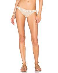 Anna Kosturova - Natural Seashore Lace-Up Bikini Top - Lyst