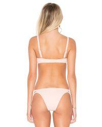 Seafolly Pink Inka Rib Bikini Top