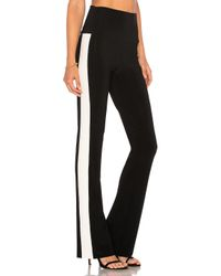 Norma Kamali Black Side Stripe Pant