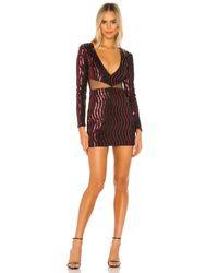 Мини Платье С Глубоким V-образным Вырезом Kim В Цвете Черный & Красный - Red. Размер Xs (также В Xxs). superdown, цвет: Black