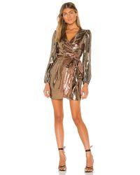 Cynthia Rowley ドレス In Metallic Copper. Size 2. Multicolor