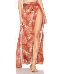 Somedays Lovin - Orange Tigress High Split Maxi Skirt - Lyst