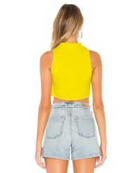 superdown Yellow Christina Flowy Crop Top