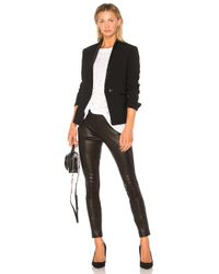 Rag & Bone Black Simone Leather Pant