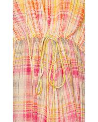 Hemant & Nandita Yellow Thick and Thin Stripe Dress