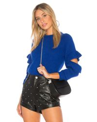 Endless Rose Blue Ruffle Sweater