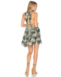 Free People - Black Daydream Mini Printed Dress - Lyst