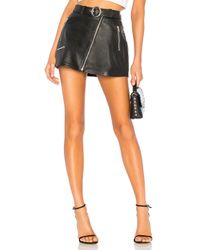 Urban Outfitters Black Mid Rise Moto Skirt With Belt