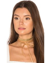 Joolz by Martha Calvo - Multicolor Mesh Leather Wrap Choker - Lyst
